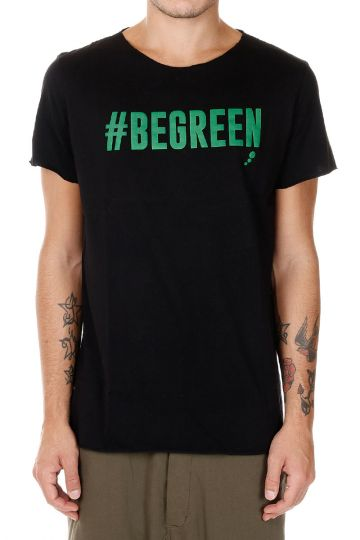 T-shirt in Jersey di Cotone #BEGREEN