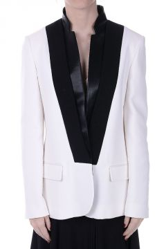 Silk Blend Smoking Blazer