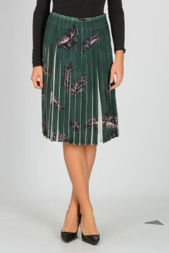 Silk Crepe Skirt