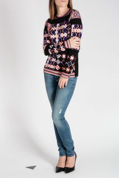 Geometric Intarsia Sweater