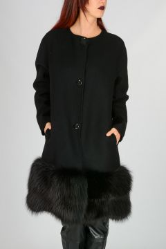 Virgin Wool Coat with Fur