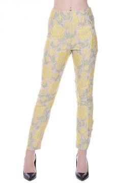 Pantaloni CHINO broccati in Misto Seta