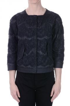 Embroidered Down Jacket