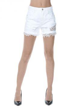 Pantaloncini in Jeans a Vita Alta