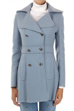 Virgin wool and cashmere coat