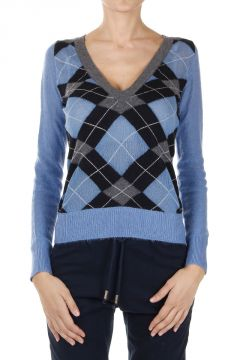 Geometric pattern V neck Sweater