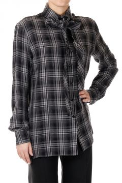 100% cotton Checked Blouse
