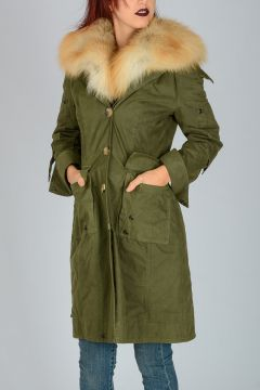 Jacket With Real Fur & Hood