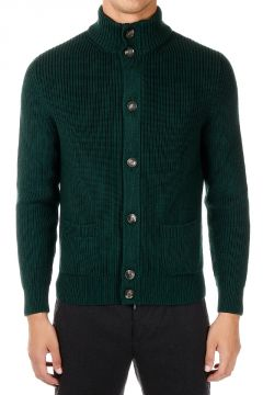 Wool Cardigan with Zip