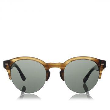COUTURE Occhiale da sole  con aste in Legno e Corno di Bufalo
