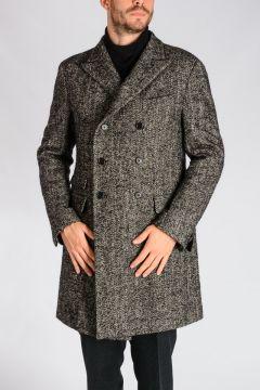 Z ZEGNA Wool Blend Herringbone Coat