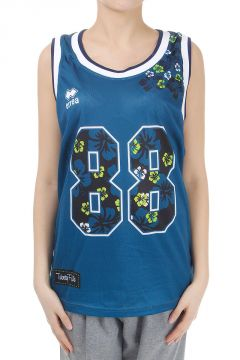 Printed Basketball Tank Top in Perforated Fabric