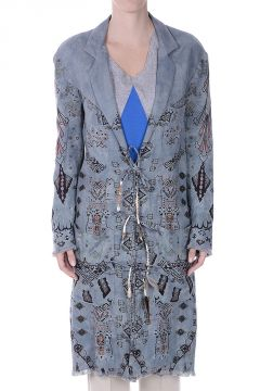 Linen Printed Duster Coat