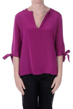 Silk Top With Bow