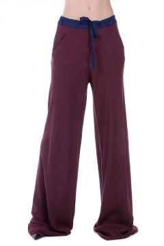 Silk Crepe Flared Pants