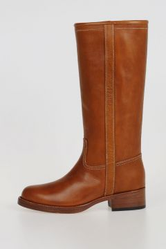 4cm Leather Boots