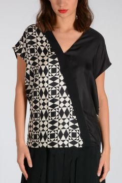 Silk Geo Printed top