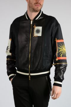 Bomber in Nylon e Pelle