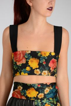 Crop Top in Seta