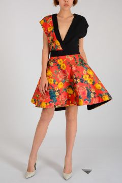 Silk Floral Printed Dress