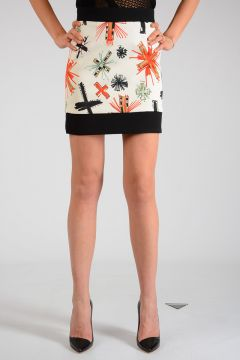 Crosses Printed Mini Skirt