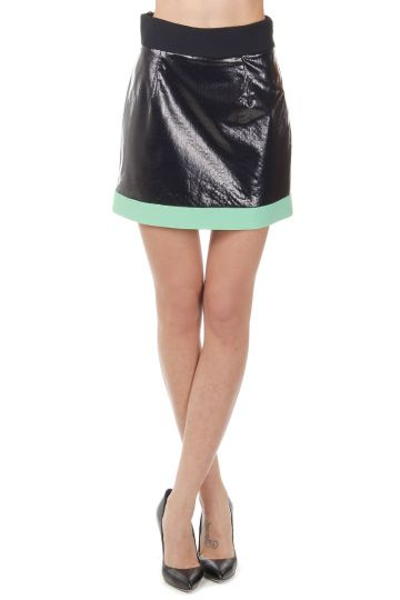 Stretch Two Tone Skirt