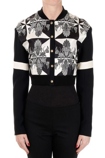 Silk Printed Cropped Jacket