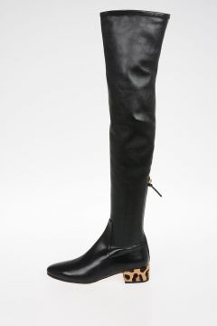 Stretch Nappa Leather Boots 4 cm
