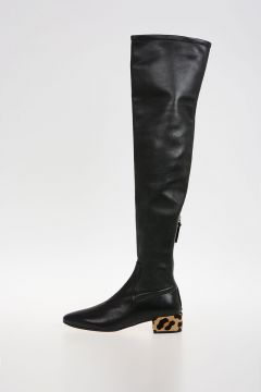 Leather High Boots 4 cm