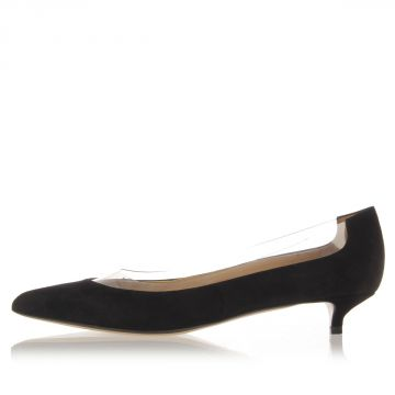 Decollete suede shoes with 4 cm heel