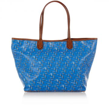 Borsa Shopping EASY in Canvas Spalmato BLUETTE