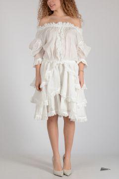 Vestito Blouson in Cotone