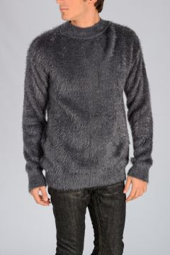 Nylon Round Neck Sweater