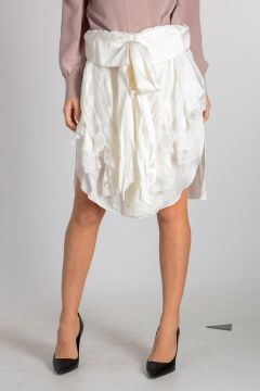 Silk Skirt with Lace Details
