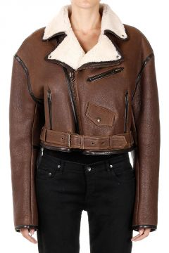 Shearling Jacket with Zip