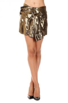 Silk Blend LAME VOILE SHIRT Skirt