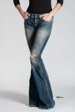 Stretch Denim Jeans 37 cm
