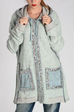 Sequins Embellished Hoodie