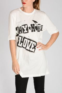 Cotton WHY NOT LOVE T-shirt