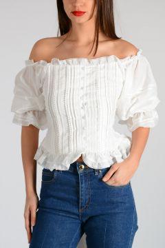 Cotton Blouse Asymmetric