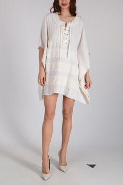 Linen and Silk Tunic Dress