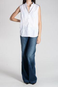 Camicia in Cotone Smanicata