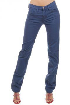 Pantaloni Stretch con Strass Apllicati