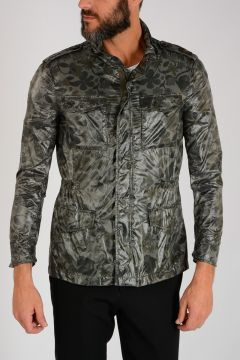 Flowered Nylon Jacket