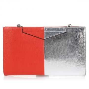 Two Tones Leather Pochette