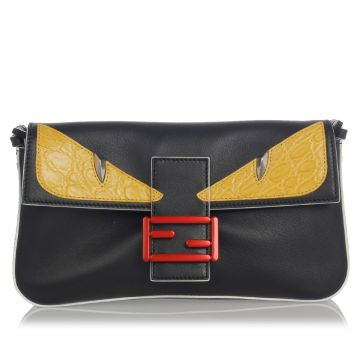 Clutch Bag MONSTER with Caiman Details