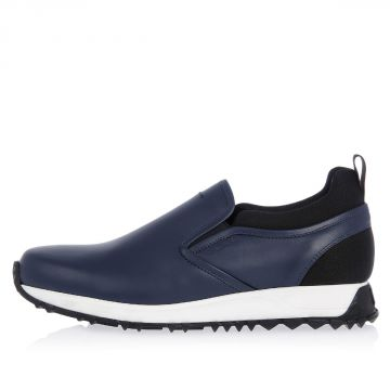 Sneakers Slip On in Misto Pelle