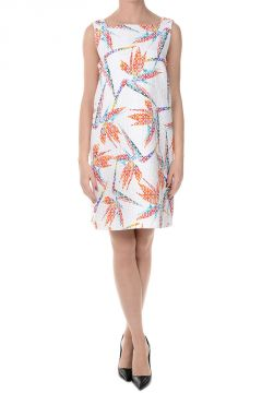 Cotton and Silk Blend BIRD OF PARADISE Dress
