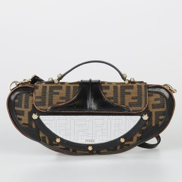 Fabric & Leather MINI VANITY Clutch Bag