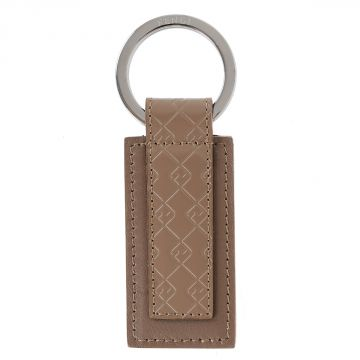 Leather Keyring with Logo